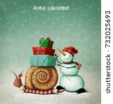 Holiday Greeting Card With ...