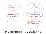 light multicolor  rainbow... | Shutterstock .eps vector #732026443