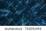 digital binary code matrix... | Shutterstock . vector #732051493