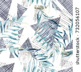 abstract seamless pattern. hand ...   Shutterstock . vector #732056107