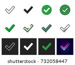 checkmark icon vector isolated | Shutterstock .eps vector #732058447