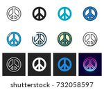 peace icon vector isolated | Shutterstock .eps vector #732058597
