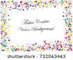 festive colorful triangle... | Shutterstock .eps vector #732063463