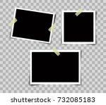 set of vintage photo frame with ... | Shutterstock .eps vector #732085183