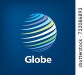 vector logo globe | Shutterstock .eps vector #732086893