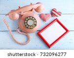 Pink Retro Telephone With Phot...