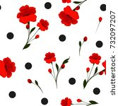 seamless floral pattern. cute... | Shutterstock .eps vector #732097207
