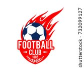 football club icon template of... | Shutterstock .eps vector #732099127