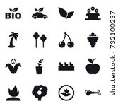 16 vector icon set   bio  eco... | Shutterstock .eps vector #732100237