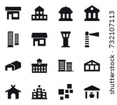 16 vector icon set   shop ... | Shutterstock .eps vector #732107113