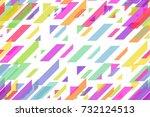 seamless festive pink triangles ... | Shutterstock . vector #732124513