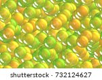 seamless shiny gold spheres and ... | Shutterstock . vector #732124627