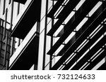 corporate office building in... | Shutterstock . vector #732124633