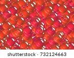 seamless creative red spheres ... | Shutterstock . vector #732124663