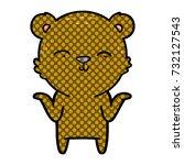 shrugging bear cartoon | Shutterstock .eps vector #732127543