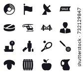 16 vector icon set   circle... | Shutterstock .eps vector #732129847