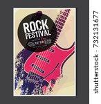 music poster template. vector... | Shutterstock .eps vector #732131677