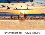 scenical menara garden.travel...   Shutterstock . vector #732148693