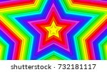 multicolor stars. abstract 3d... | Shutterstock . vector #732181117