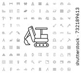 excavator icon. set of outline... | Shutterstock .eps vector #732189613