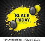 black friday sale poster.... | Shutterstock .eps vector #732191137