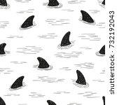 seamless shark fin pattern....