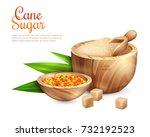 cane sugar background with... | Shutterstock .eps vector #732192523