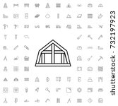 mansard roof icon. set of... | Shutterstock .eps vector #732197923