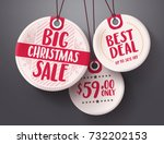 big christmas sale tags vector... | Shutterstock .eps vector #732202153