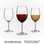 vector  wine wineglass  made in ... | Shutterstock .eps vector #732222067