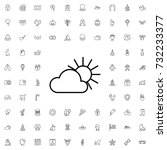 sun and cloud icon. set of... | Shutterstock .eps vector #732233377