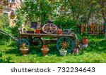 panoramic view of a decorative... | Shutterstock . vector #732234643