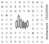 graph icon. set of outline... | Shutterstock .eps vector #732235543
