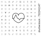 heartbeat icon. set of outline... | Shutterstock .eps vector #732241147