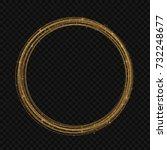 light line gold swirl effect.... | Shutterstock .eps vector #732248677