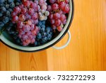 red and white grapes on wooden... | Shutterstock . vector #732272293