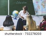 teacher woman happy young... | Shutterstock . vector #732278203