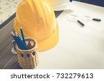 construction engineer equipment ... | Shutterstock . vector #732279613