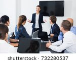 woman manager making... | Shutterstock . vector #732280537