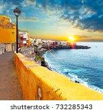 scenic landscape. canary island ...   Shutterstock . vector #732285343
