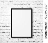 white blank photo frame mockup...   Shutterstock . vector #732293617