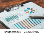 business report plan put on the ... | Shutterstock . vector #732306907