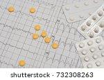 electrocardiogram on paper....   Shutterstock . vector #732308263