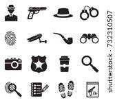 detective icons. black flat... | Shutterstock .eps vector #732310507