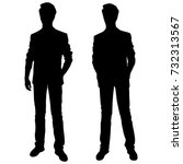vector silhouettes of men... | Shutterstock .eps vector #732313567