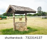 well of water at farm in... | Shutterstock . vector #732314137