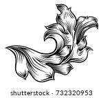 a floral filigree pattern... | Shutterstock .eps vector #732320953