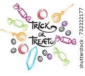 trick or treat lettering design ...   Shutterstock .eps vector #732322177