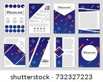 abstract vector layout... | Shutterstock .eps vector #732327223