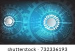 abstract futuristic technology...   Shutterstock .eps vector #732336193